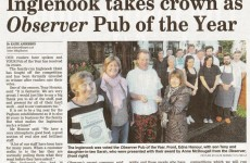Inglenook takes Observer Pub of the Year Crown 2015!